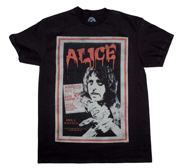 Alice Cooper Vintage Poster T-Shirt is available at Rocker Tee.