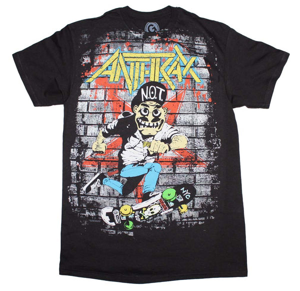 Anthrax Skater Guy T-Shirt is available at Rocker Tee.