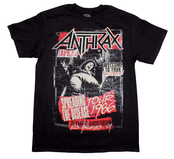 Anthrax STD 1986 Tour T-Shirt is available at Rocker Tee.