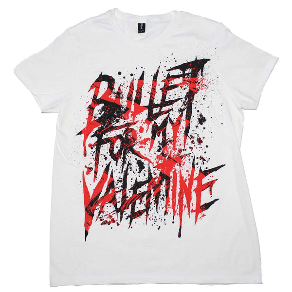 Bullet For My Valentine Splattered Logo T-Shirt is available at Rocker Tee