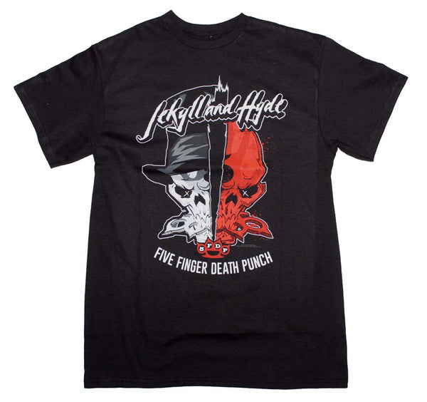 Five Finger Death Punch Jekyll and Hyde T-Shirt is available at rockerteeshirts.com