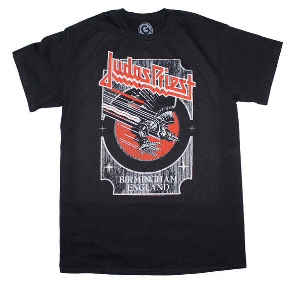 Judas Priest Silver and Red Vengeance T-Shirt is available at rockerteeshirts.com