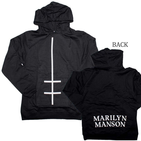 Marilyn Manson Double Cross Hoodie is available at Rocker Tee