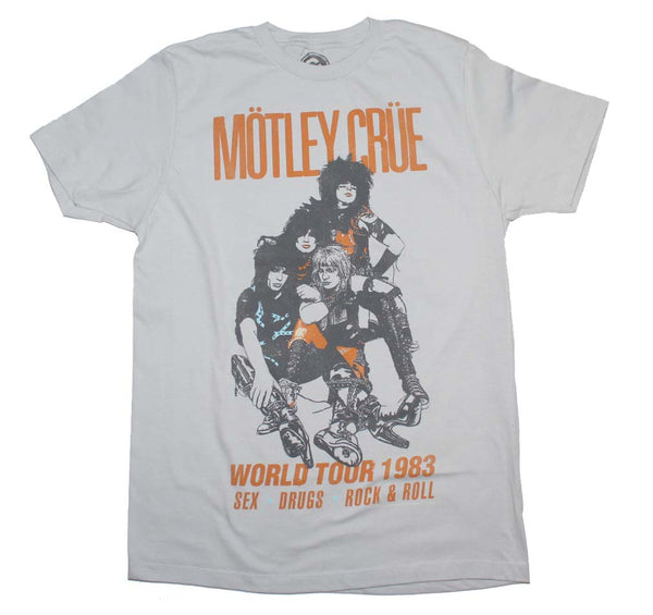 Motley Crue World Tour 1983 T-Shirt is available at Rocker Tee