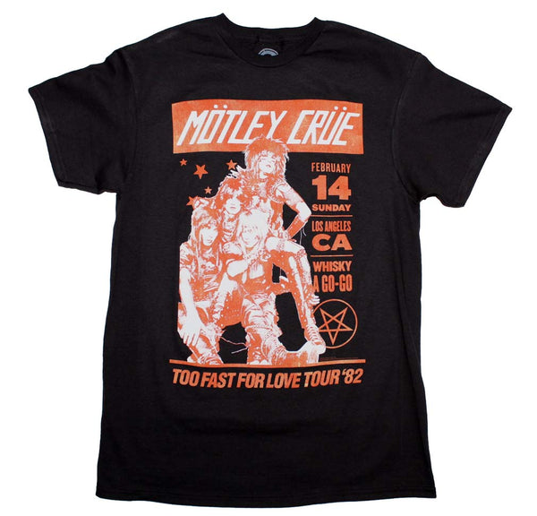 Motley Crue Whiskey A Go Go T-Shirt is available at Rocker Tee