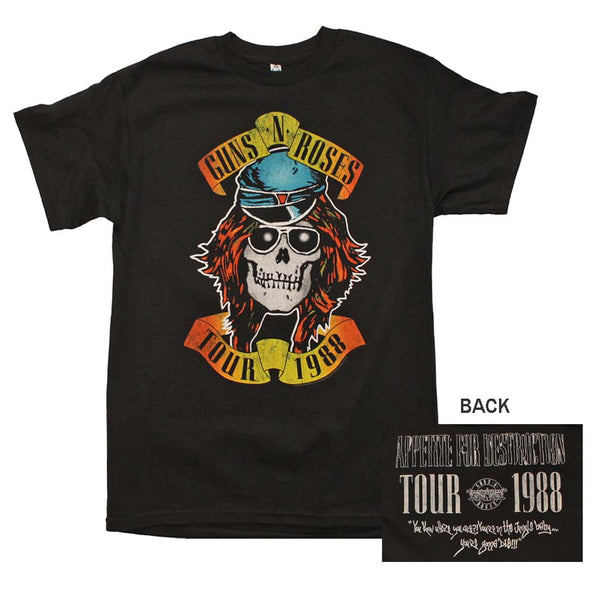 Guns n Roses Appetite For Destruction 1988 Tour T-Shirt is available at Rocker Tee.