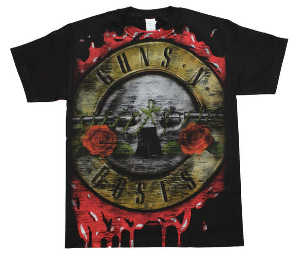 Guns N' Roses T-Shirt Featuring The Bloody Bullet Logo is available at RockerTeeShirts.com