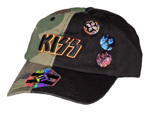 KISS Two-Tone Camouflage Hat is available at rockertee.com