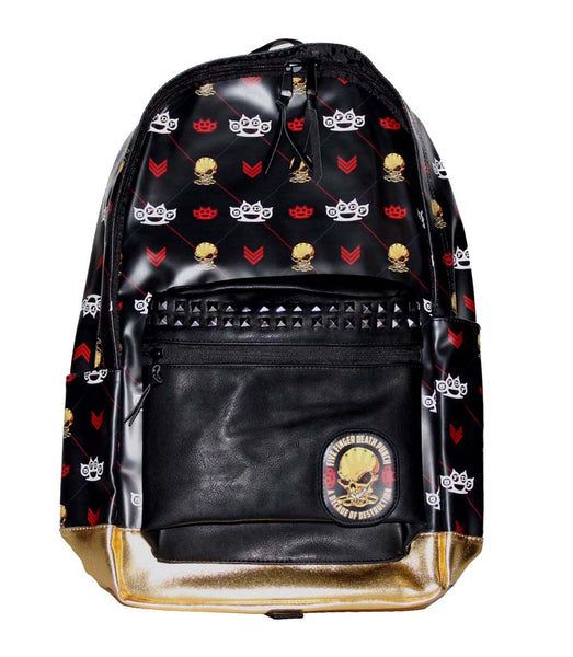 Five Finger Death Punch Backpack is available at rockerteeshirts.com