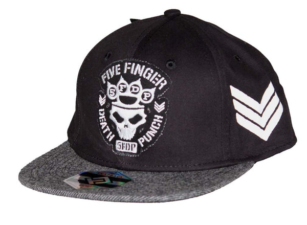 Five Finger Death Punch Flat Bill Hat is available at rockertee.com