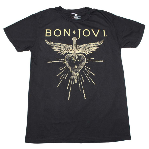 Bon Jovi Dagger Heart T-Shirt is available at Rocker Tee.