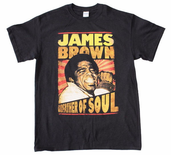 James Brown Godfather of Soul T-Shirt is available at Rocker Tee