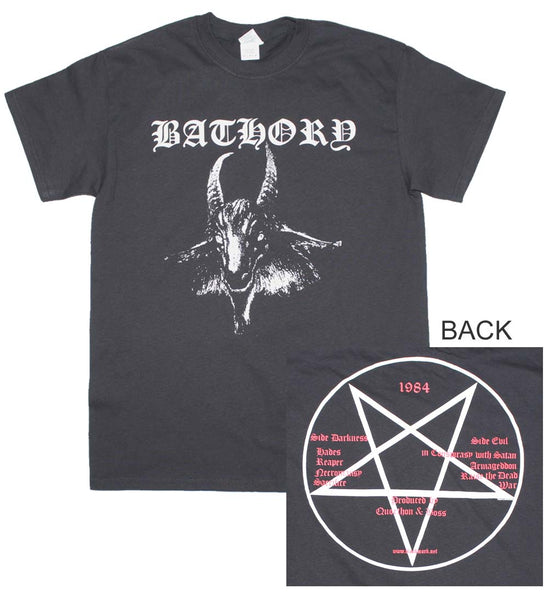 Bathory Goat Logo T-Shirt is available at Rocker Tee.