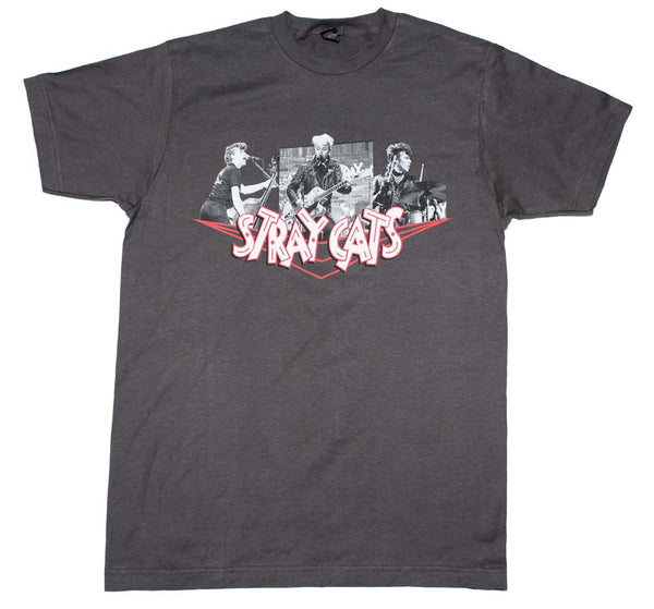 Stray Cats Photo Collage T-Shirt is available at Rocker Tee