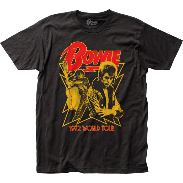 David Bowie 1972 World Tour Concert T-Shirt is available at Rocker Tee.