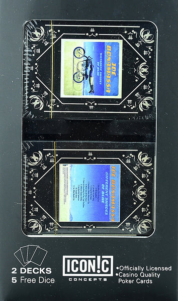 Joe Bonamassa Playing Cards and Dice Featuring Different Shades of Blue available at RockerTeeShirts.com