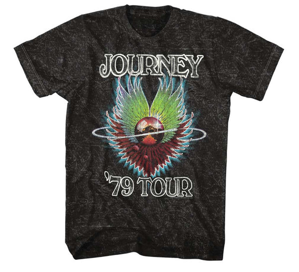 Journey 1979 Tour Mineral Wash Tee is available at rockerteeshirts.com