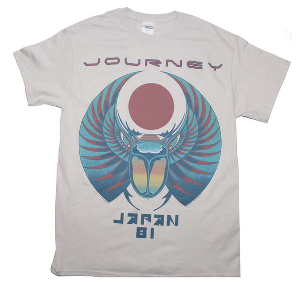 Journey Japan 1981 Tour t-shirt is available at Rocker Tee