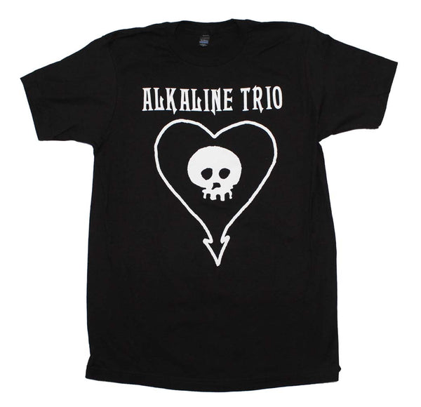 Alkaline Trio Classic Heartskull T-Shirt is available at Rocker Tee.