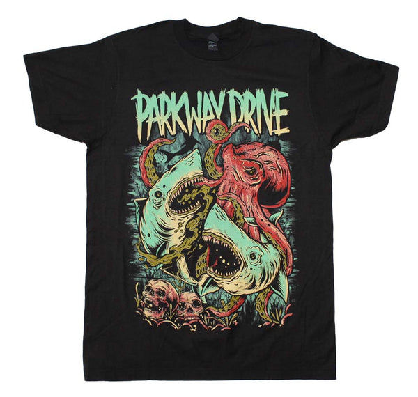 Parkway Drive Sharktopus T-Shirt is available at Rocker Tee Shirts