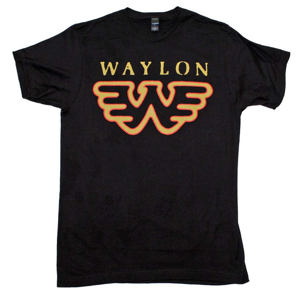 Waylon Jennings Flying W Logo T-Shirt is available at Rocker Tee