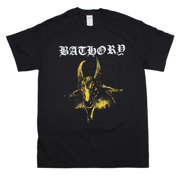 Bathory Yellow Goat Rock T-Shirt is available at Rocker Tee Shirts
