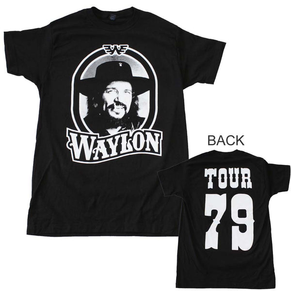 Waylon Jennings Tour 79 T-Shirt is available at Rocker Tee.