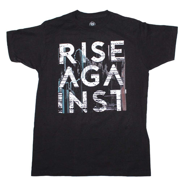 Rise Against Wolves Stacked t-shirt is available at Rocker Tee.