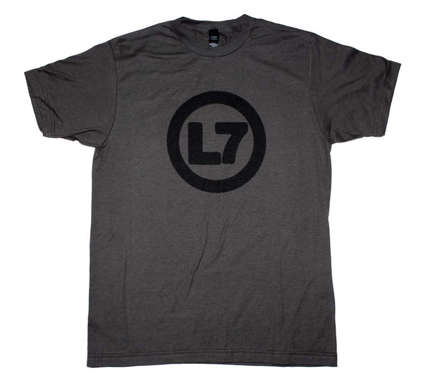 L7 Spray Logo T-Shirt is available at Rocker Tee