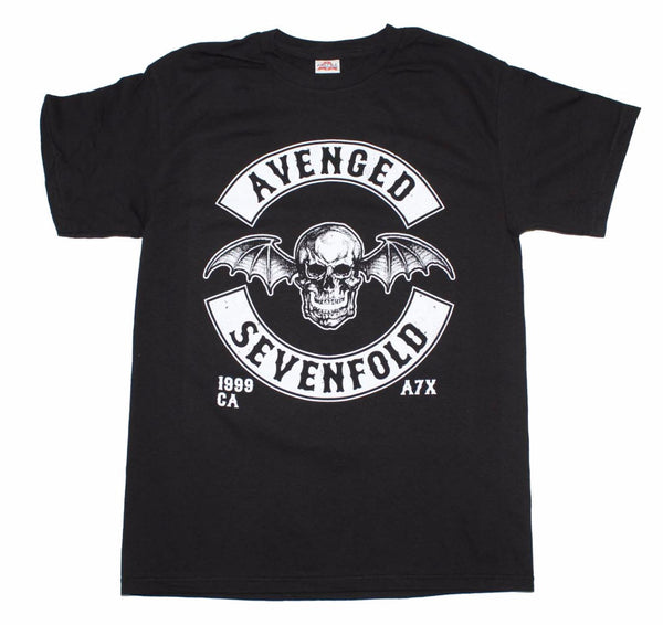 Avenged Sevenfold Deathbat Crest T-Shirt is available at Rocker Tee