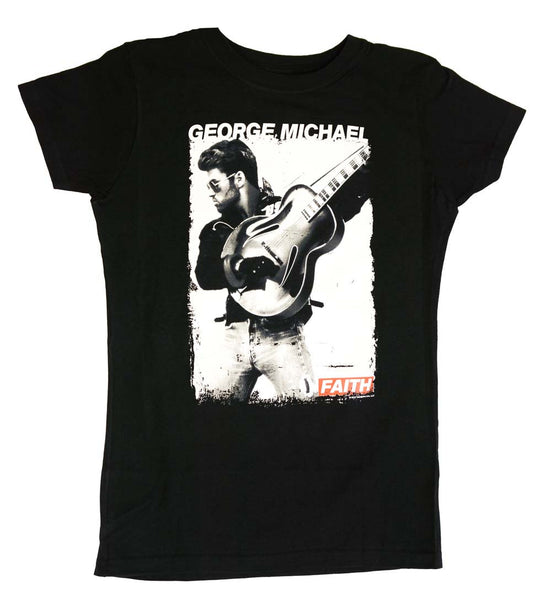 George Michael Faith Juniors Tee Shirt is available at Rocker Tee Shirts
