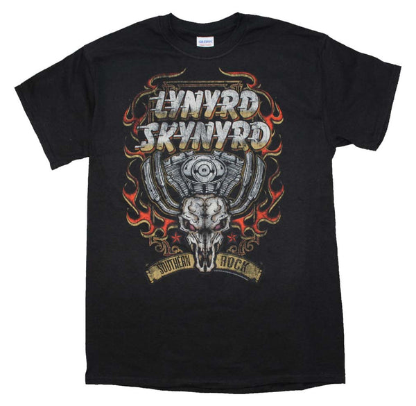Lynyrd Skynyrd T-Shirt Featuring The Motor Skull