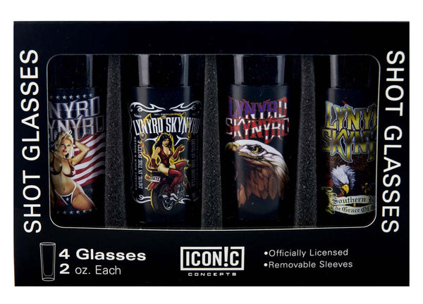 Lynyrd Skynyrd Shot Glasses Set