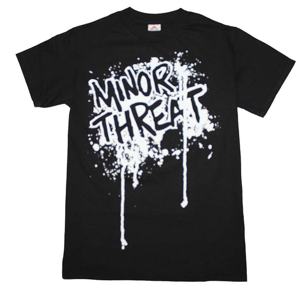 Minor Threat T-Shirt Featuring The Drip Logo. This is a wonderful piece of punk rock music memorabilia