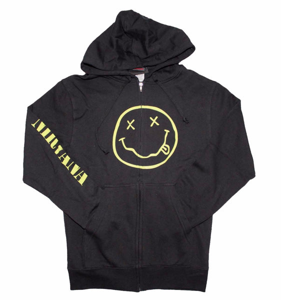 Nirvana Stoner Smiley Face hoodie sweatshirt is available at Rocker Tee.