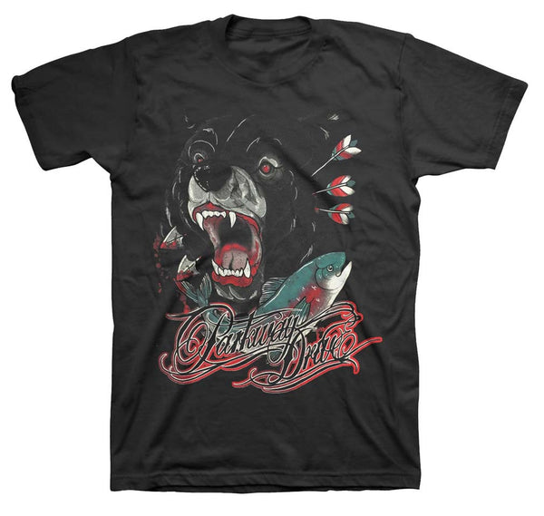 Parkway Drive T-Shirt Featuring The Bear. This is a really nice piece of Parkway Drive music memorabilia.