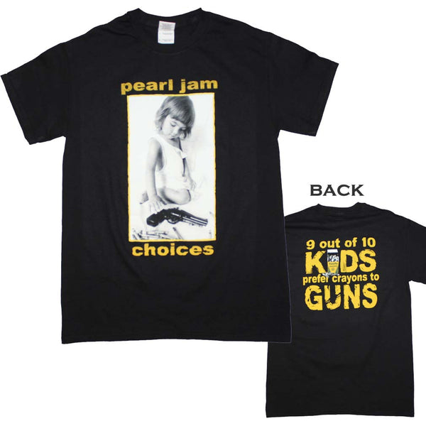 Pearl Jam T-Shirt Featuring Choices