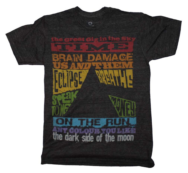 Pink Floyd T-Shirt Featuring Dark Side Of The Moon Song List