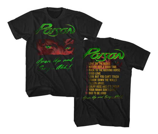 Poison Open Up and Say Ahh T-Shirt is available at rockerteeshirts.com