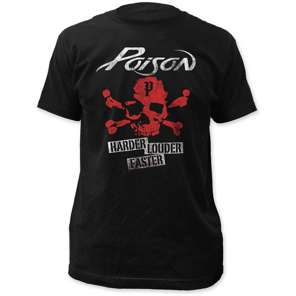 Poison Harder T-Shirt Featuring Harder Faster Louder available at RockerTeeShirts.com