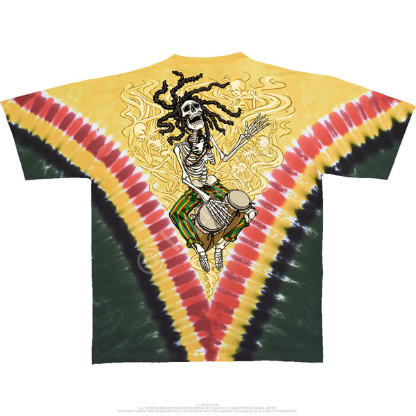 Grateful Dead Rasta Dead Tie-Dye Tee Shirt is available at Rocker Tee Shirts
