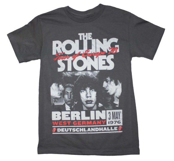 Rolling Stones T-Shirt Featuring The 1976 European Tour. A very cool piece of Rolling Stones rock music memorabilia