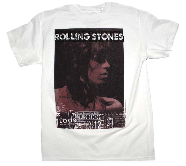 Rolling Stones T-Shirt Featuring Keith Richards Live is available at Rocker Tee.