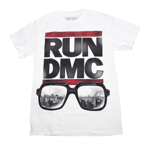 Run DMC T-Shirt featuring The Glasses NYC Image. Hip Hop Music Memorabilia For One And All.