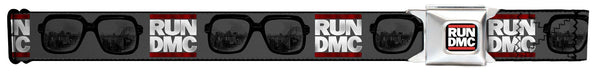 "RUN DMC Glasses Logo Seatbelt Belt (24-38"")"
