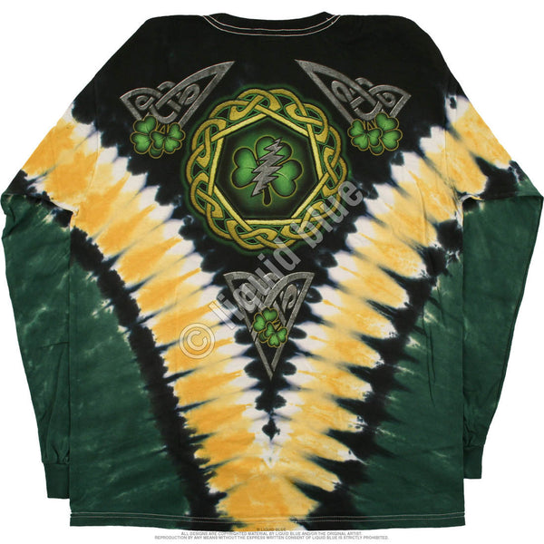 Grateful Dead Shamrock Tie-Dye Long Sleeve T-Shirt is available at Rocker Tee Shirts