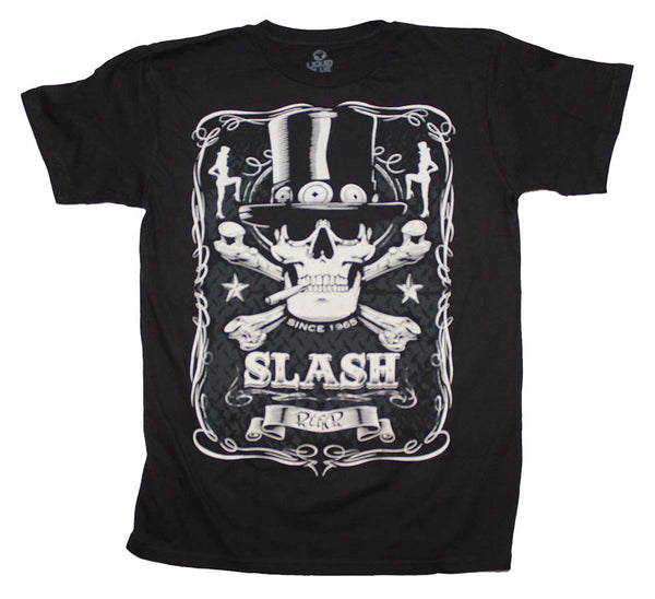 Slash T-Shirt Featuring The Bottle of Slash Logo Print On The Front.  A Desirable Piece Of Rock Music Memorabilia