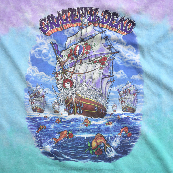Grateful Dead Ship Of Fools Tie-Dye T-Shirt is available at Rocker Tee Shirts