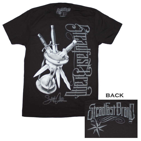 Steadfast Brand T-Shirt Featuring Killing Time Tattoo Artwork. Loved By Music T-Shirt Collectors Everywhere