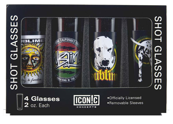 Sublime (4 Pack) Shot Glasses Set For Rock N Roll Booze Lovers